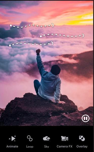 تحريك السماء في Pixaloop