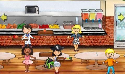 المطبخ في ماي بلاي هوم المدرسة