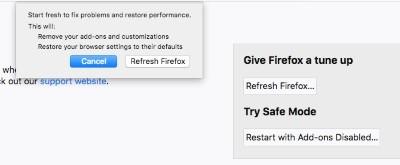 تحديث لتسريع فايرفوكس