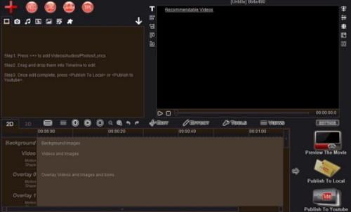 المخطط الزمني لبرنامج Easy Video maker