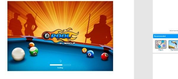 واجهة لعبة Ball Pool 8