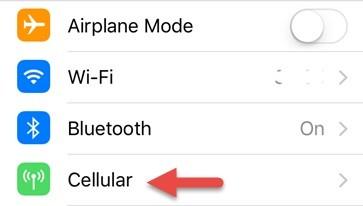 إعدادات اتصال الانترنت لقطع النت عن تطبيقات الايفون