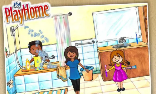 الحمام في لعبة My PlayHome Doll House