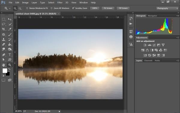 خيارات تحرير وتعديل الصور في فوتوشوب