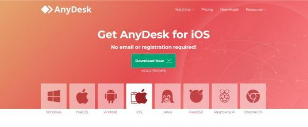 صفحة تحميل Anydesk